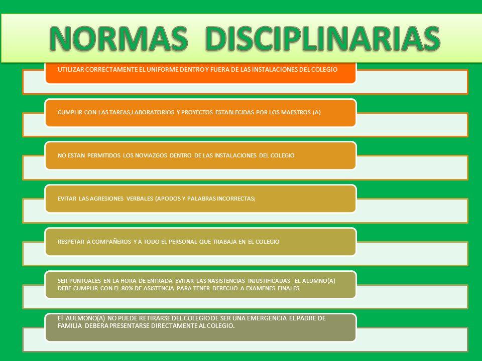 NORMAS DISCIPLINARIAS