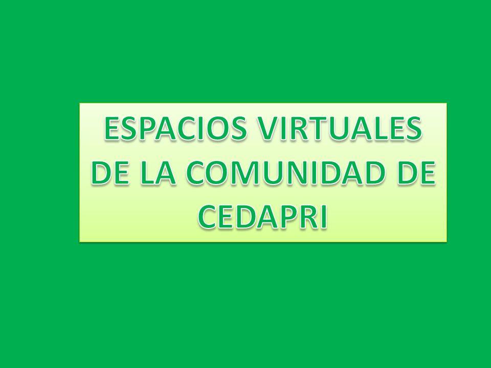 ESPACIOS VIRTUALES DE LA COMUNIDAD DE CEDAPRI