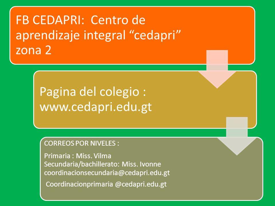 FB CEDAPRI: Centro de aprendizaje integral cedapri zona 2