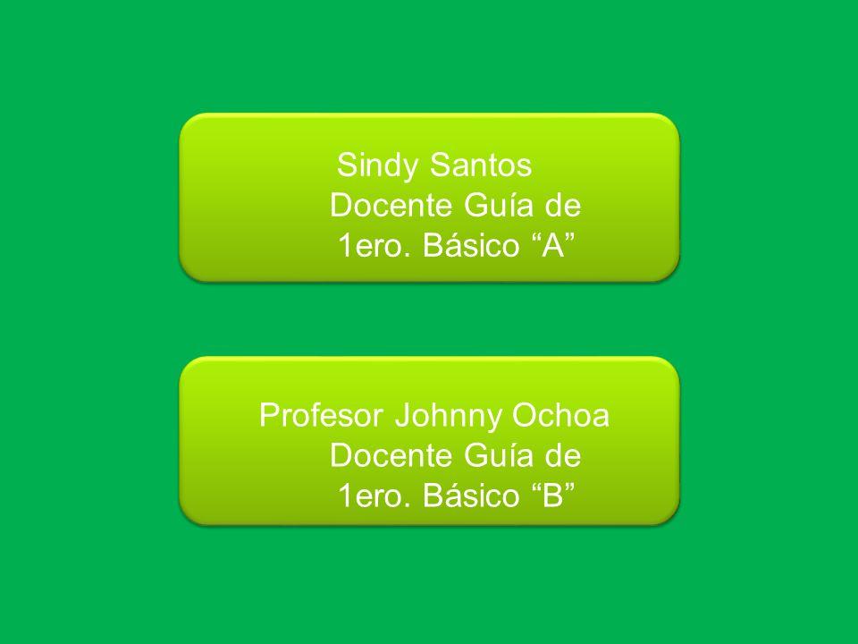 Sindy Santos Docente Guía de. 1ero. Básico A Profesor Johnny Ochoa.