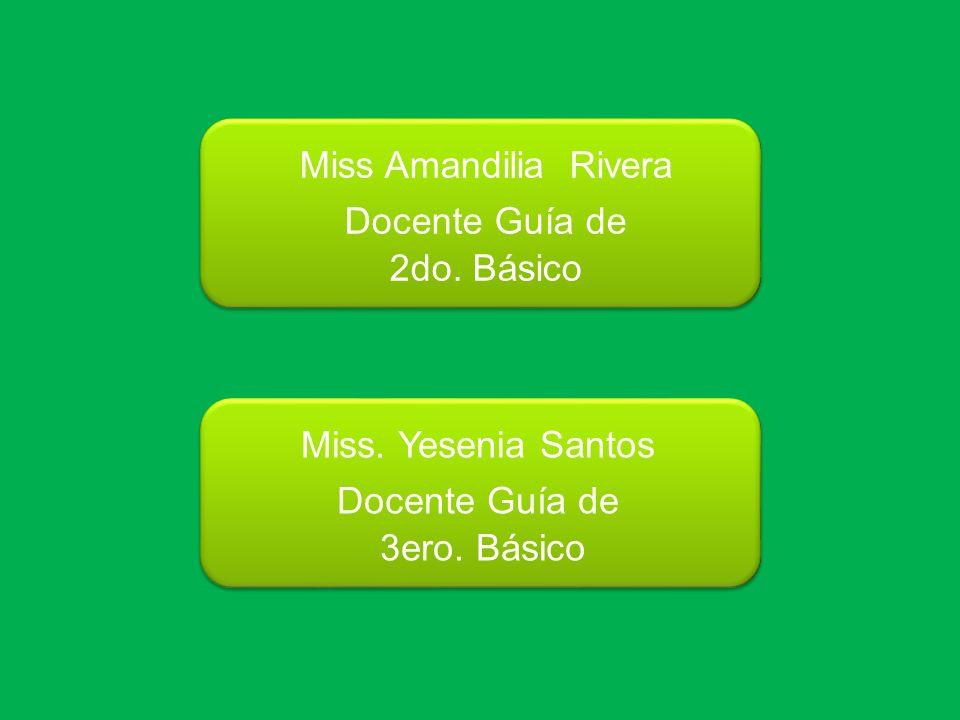 Miss Amandilia Rivera Docente Guía de. 2do. Básico.