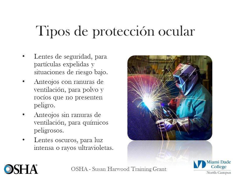 Tipos de protección ocular