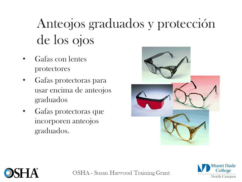 Anteojos graduados y protección de los ojos