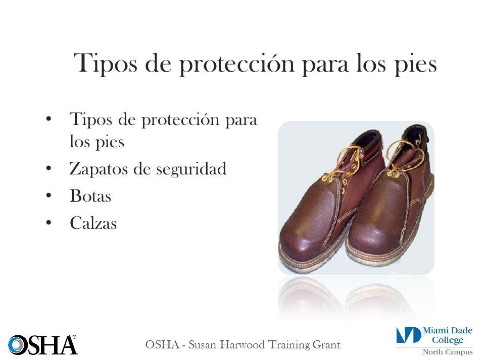 Tipos de protección para los pies