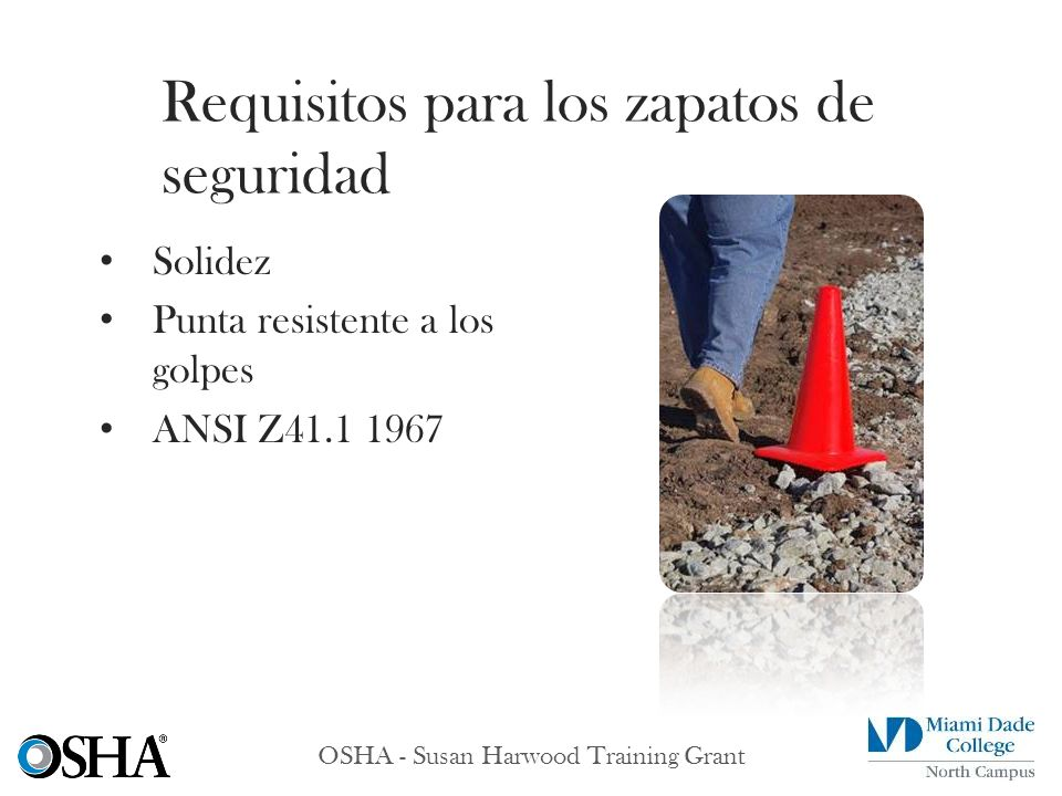 Requisitos para los zapatos de seguridad