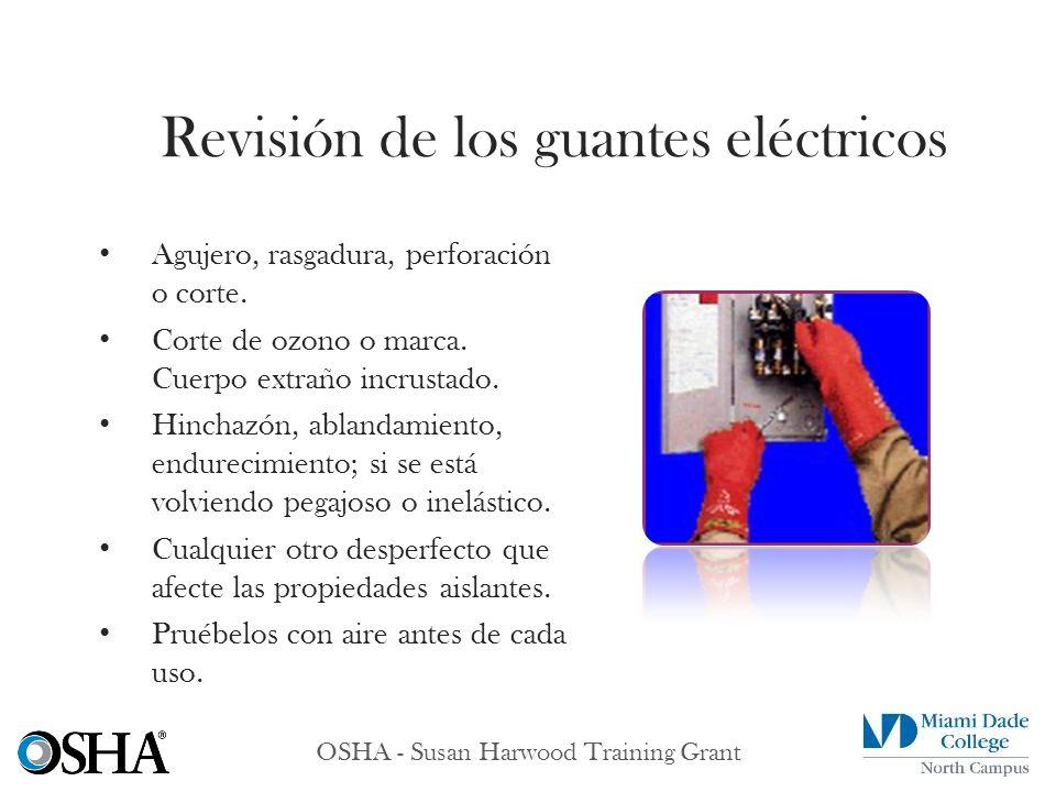 Revisión de los guantes eléctricos