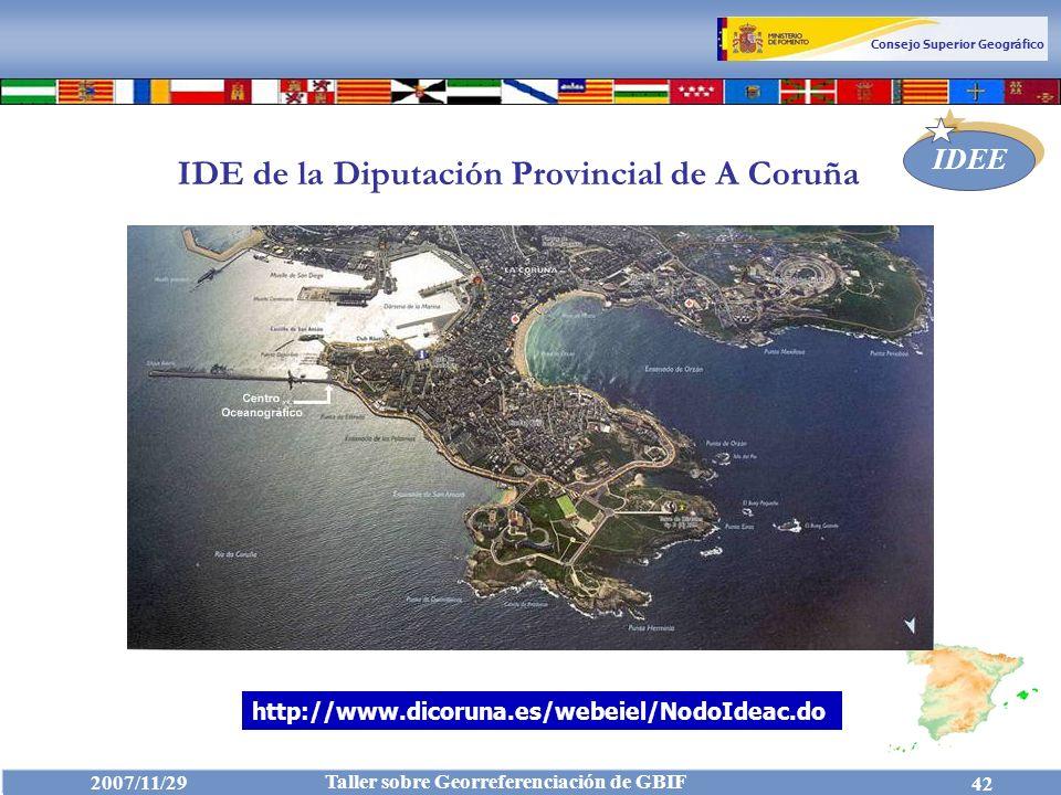IDE de la Diputación Provincial de A Coruña