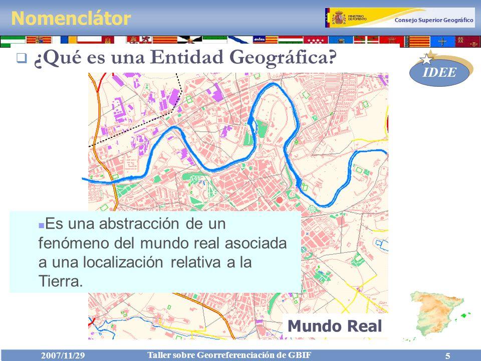 ¿Qué es una Entidad Geográfica