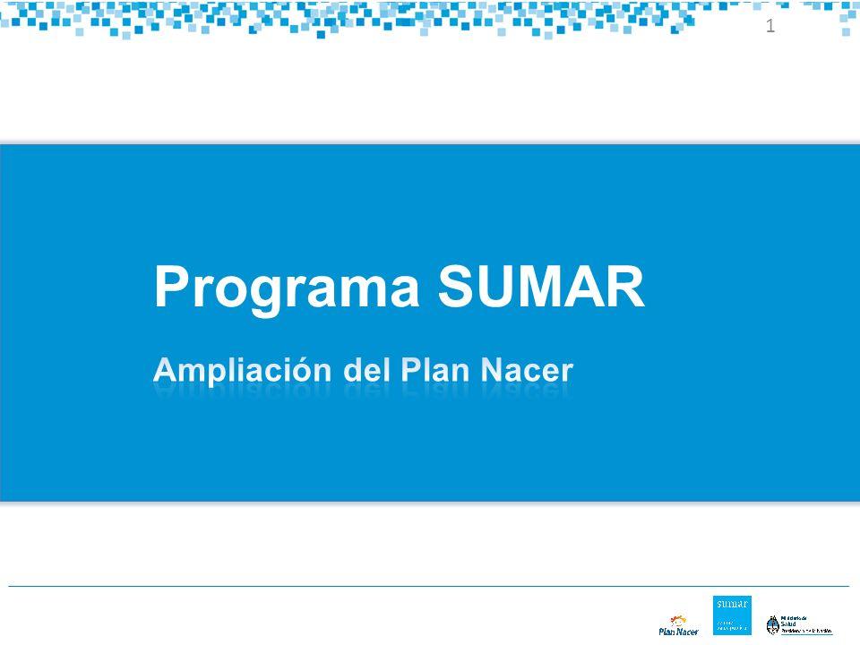 Programa SUMAR Ampliación del Plan Nacer