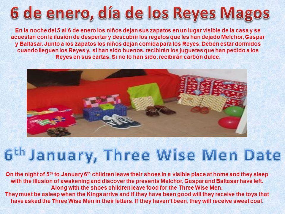 6 de enero, día de los Reyes Magos 6th January, Three Wise Men Date