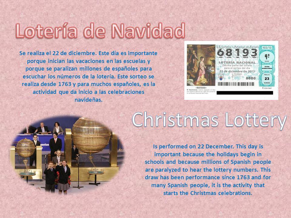 Lotería de Navidad Christmas Lottery