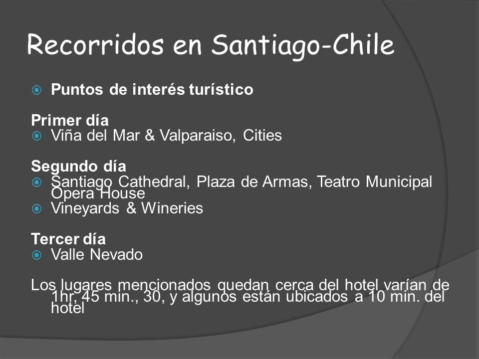 Recorridos en Santiago-Chile