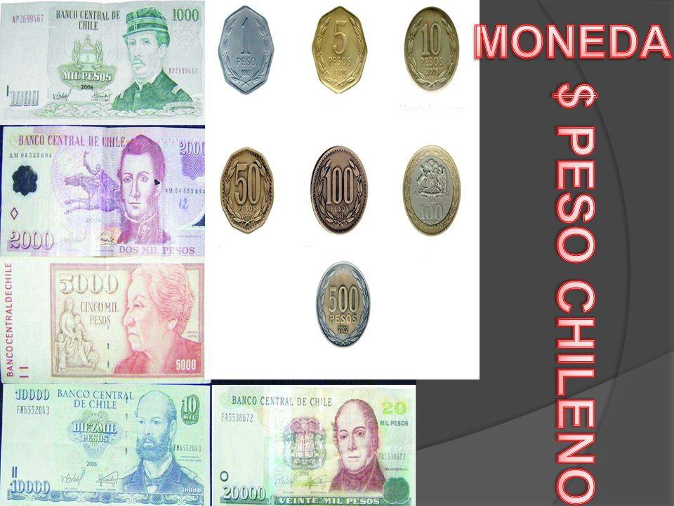 MONEDA $ PESO CHILENO