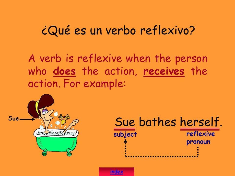 ¿Qué es un verbo reflexivo