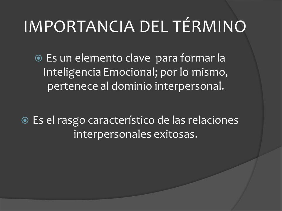 IMPORTANCIA DEL TÉRMINO