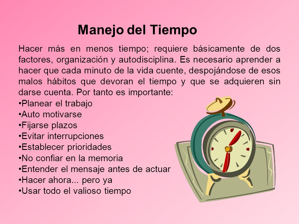 Manejo del Tiempo