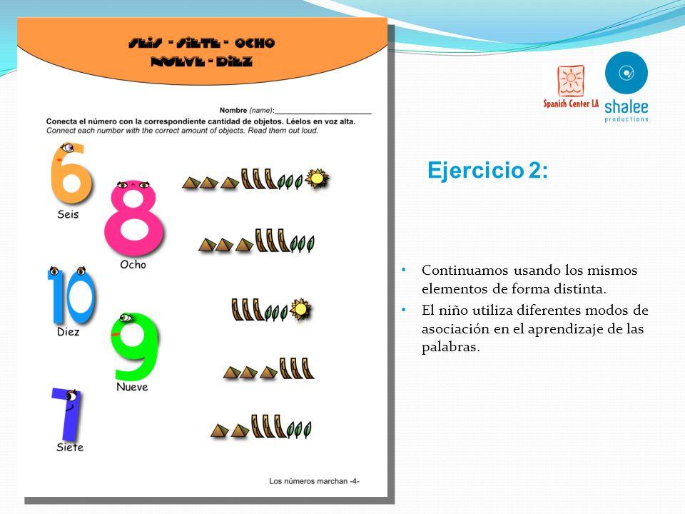 Ejercicio 2: Continuamos usando los mismos elementos de forma distinta.