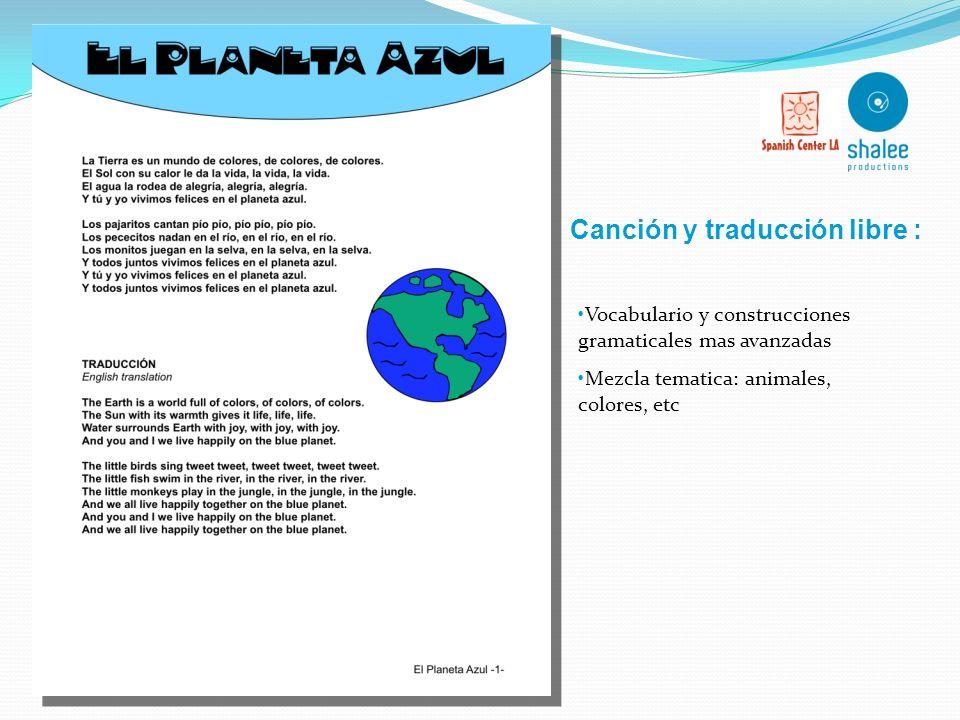 Canción y traducción libre :