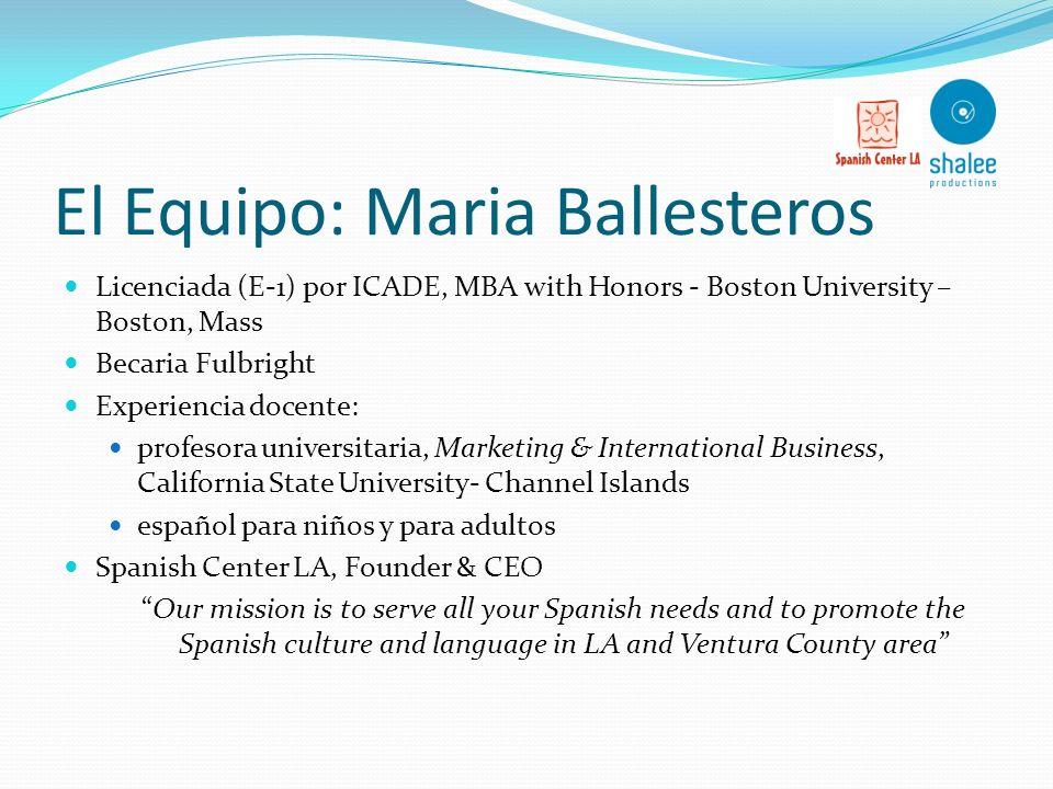 El Equipo: Maria Ballesteros