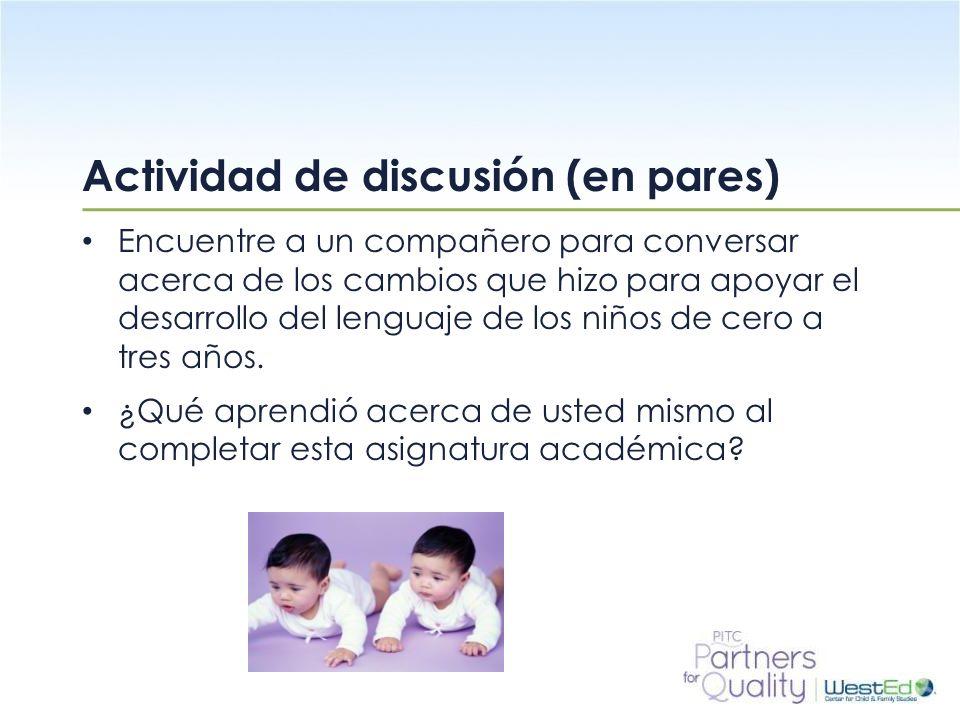 Actividad de discusión (en pares)