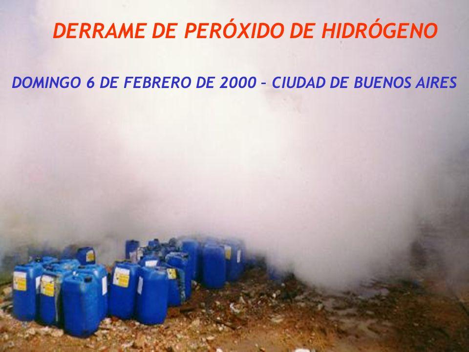 DERRAME DE PERÓXIDO DE HIDRÓGENO