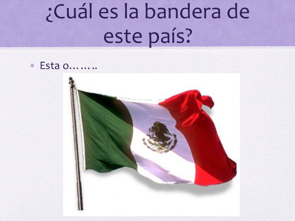 ¿Cuál es la bandera de este país
