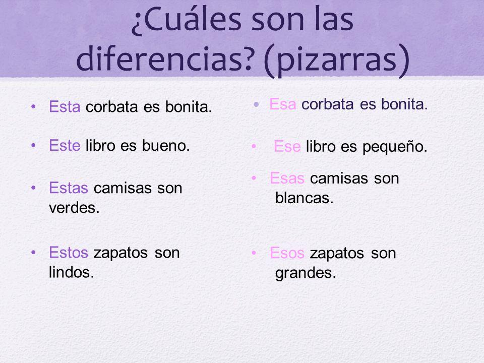 ¿Cuáles son las diferencias (pizarras)