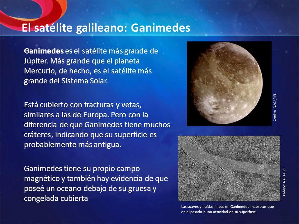 El satélite galileano: Ganimedes