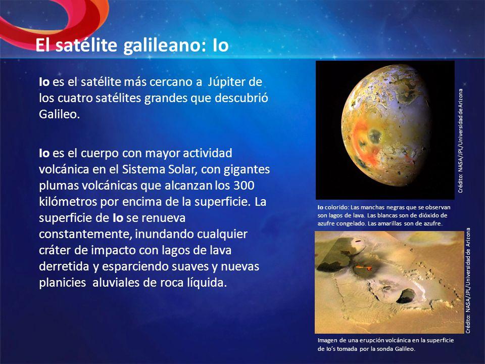 El satélite galileano: Io