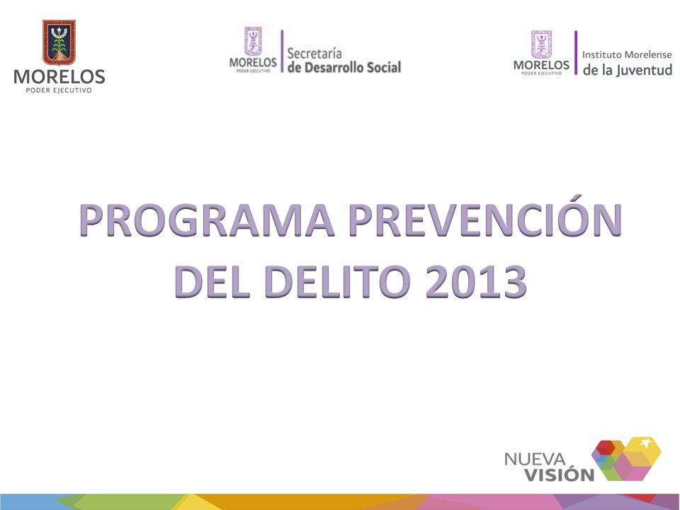 PROGRAMA PREVENCIÓN DEL DELITO 2013