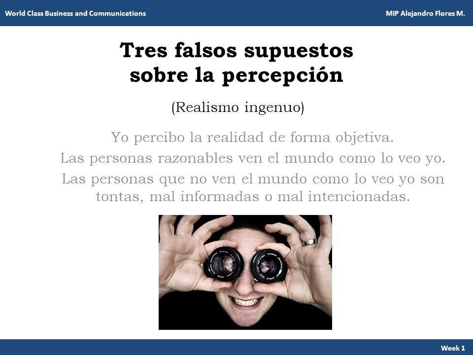 Tres falsos supuestos sobre la percepción