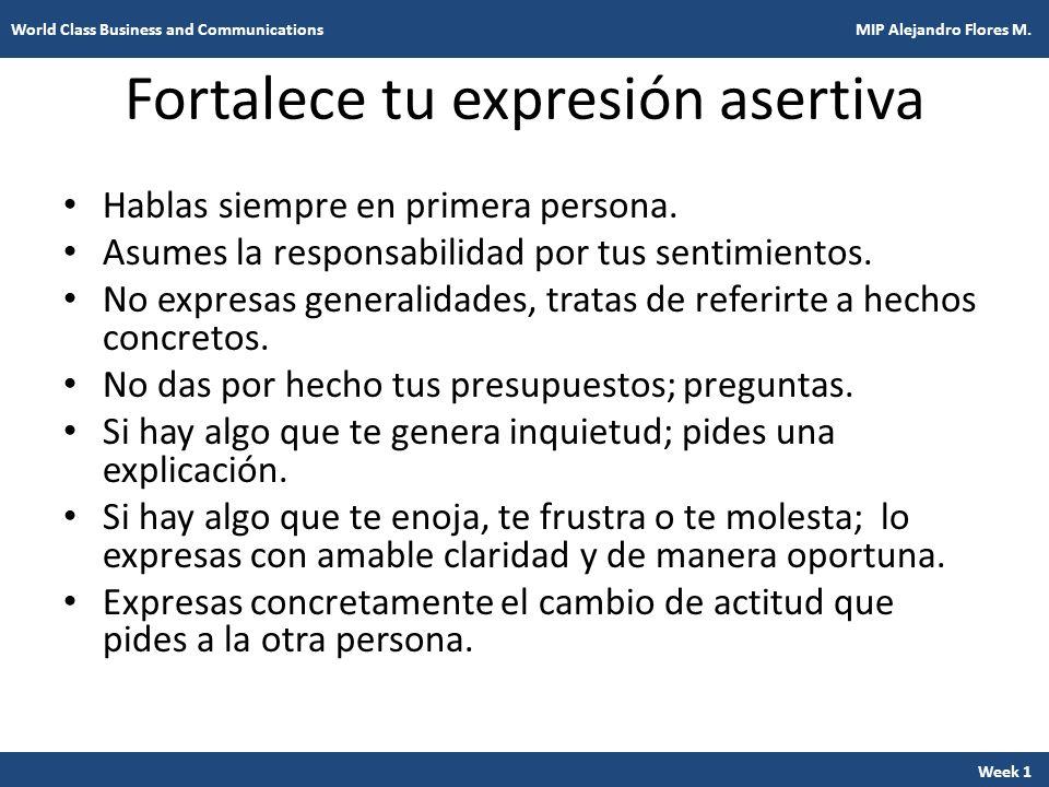 Fortalece tu expresión asertiva
