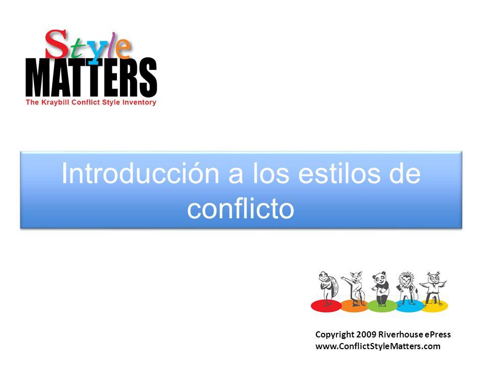 Introducción a los estilos de conflicto