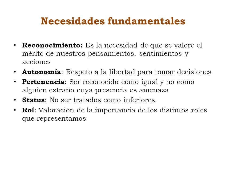 Necesidades fundamentales