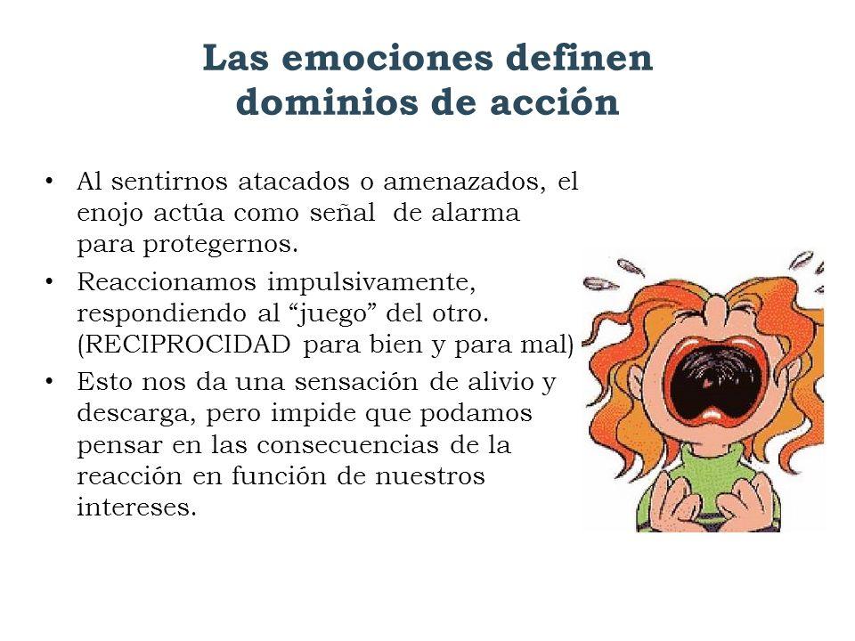 Las emociones definen dominios de acción