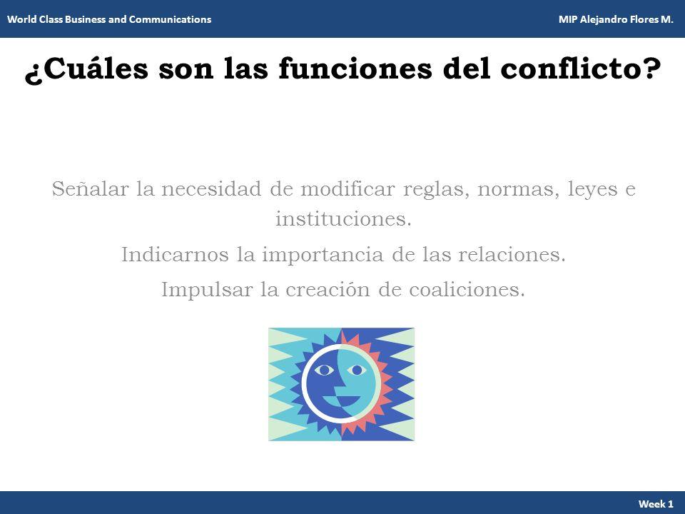 ¿Cuáles son las funciones del conflicto