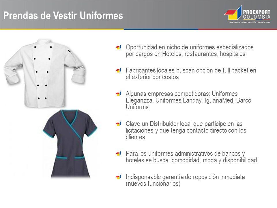 Prendas de Vestir Uniformes