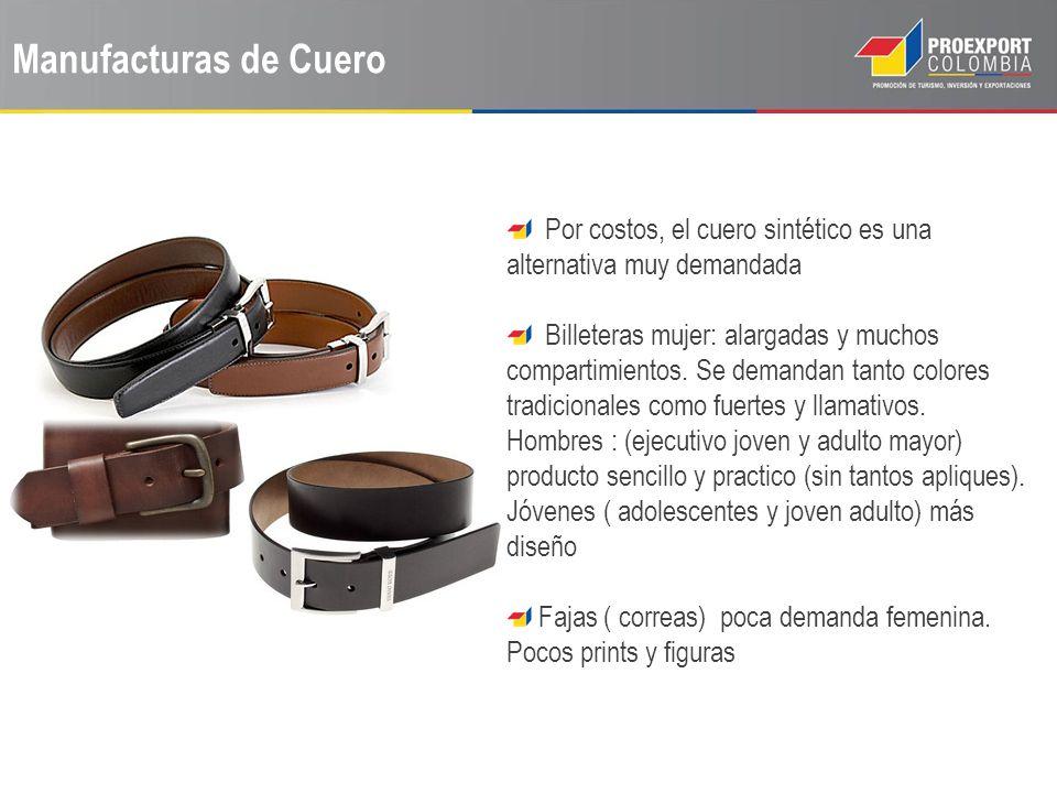 Manufacturas de Cuero Por costos, el cuero sintético es una alternativa muy demandada.