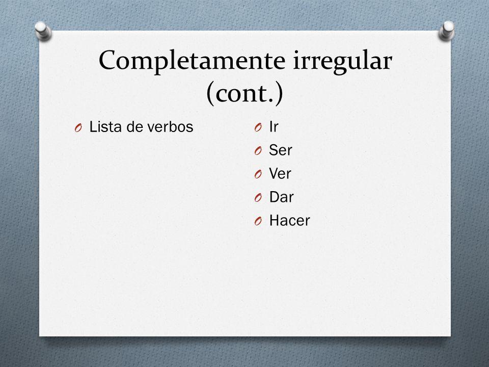 Completamente irregular (cont.)
