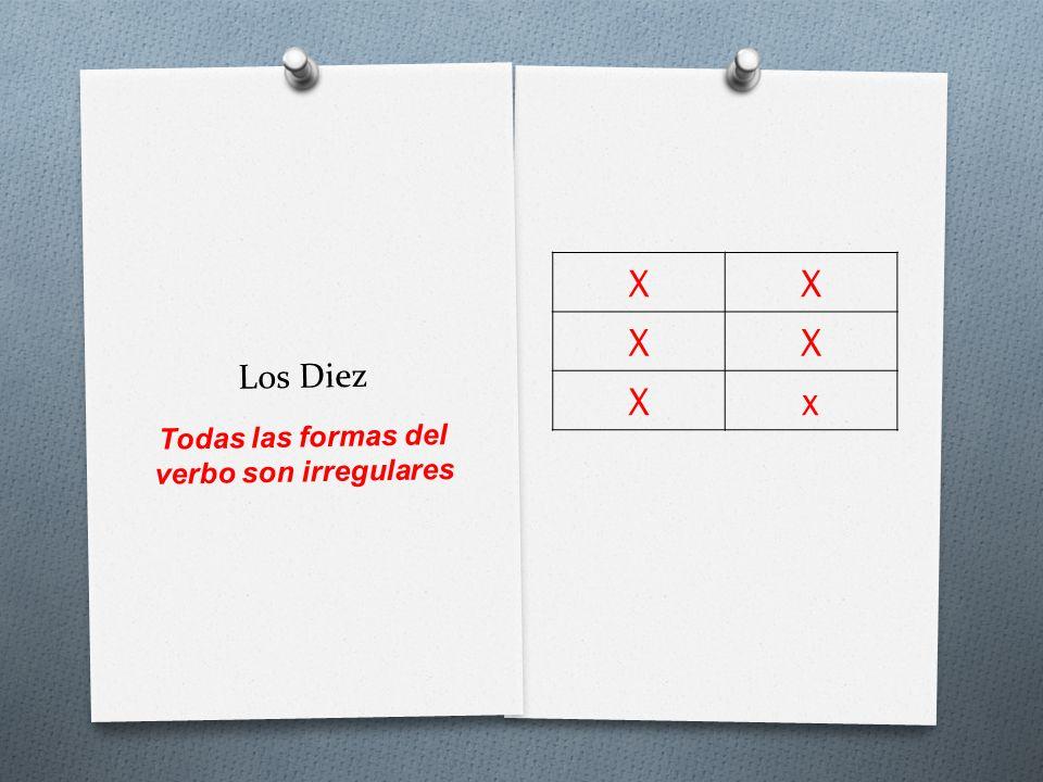Todas las formas del verbo son irregulares