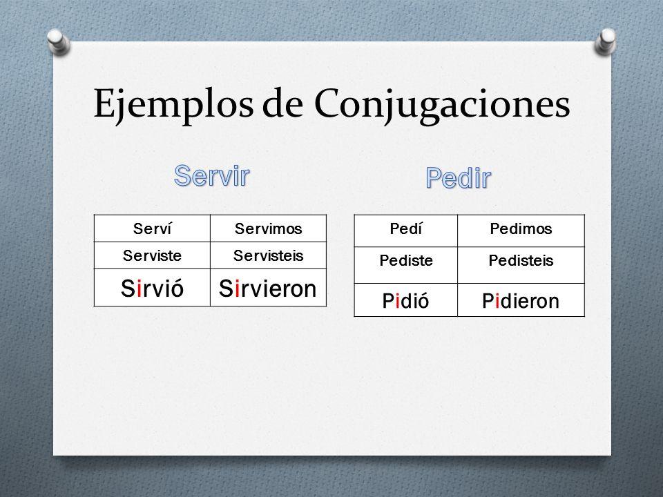 Ejemplos de Conjugaciones
