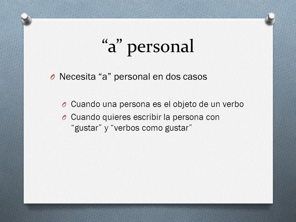 a personal Necesita a personal en dos casos