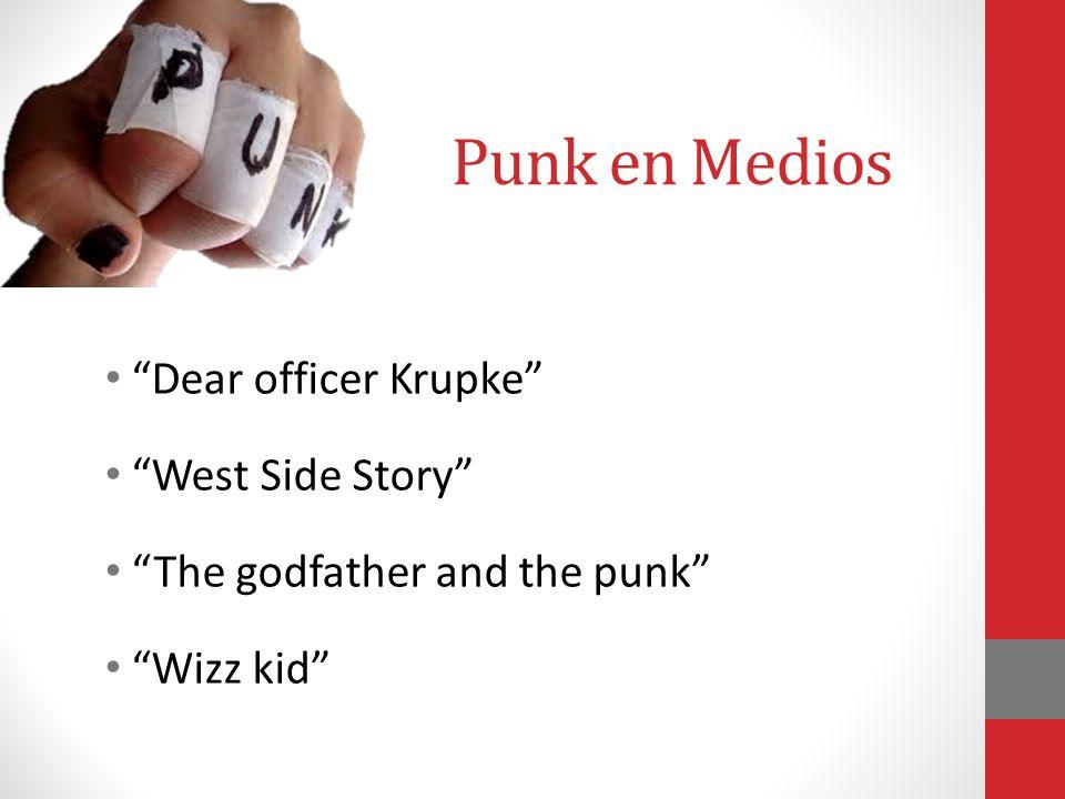 Punk en Medios Dear officer Krupke West Side Story