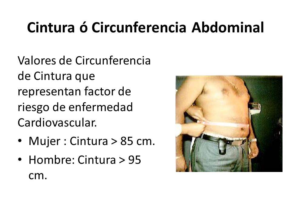 Cintura ó Circunferencia Abdominal