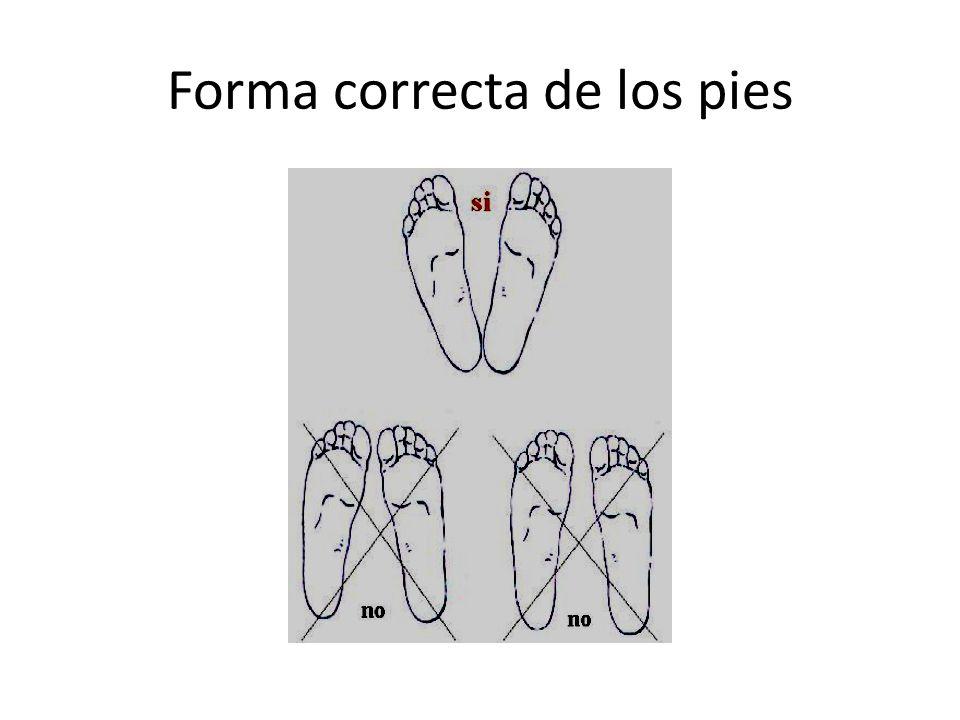 Forma correcta de los pies