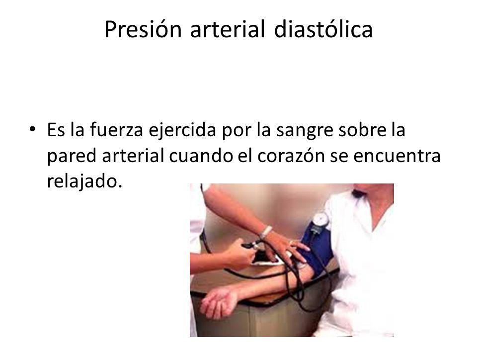 Presión arterial diastólica