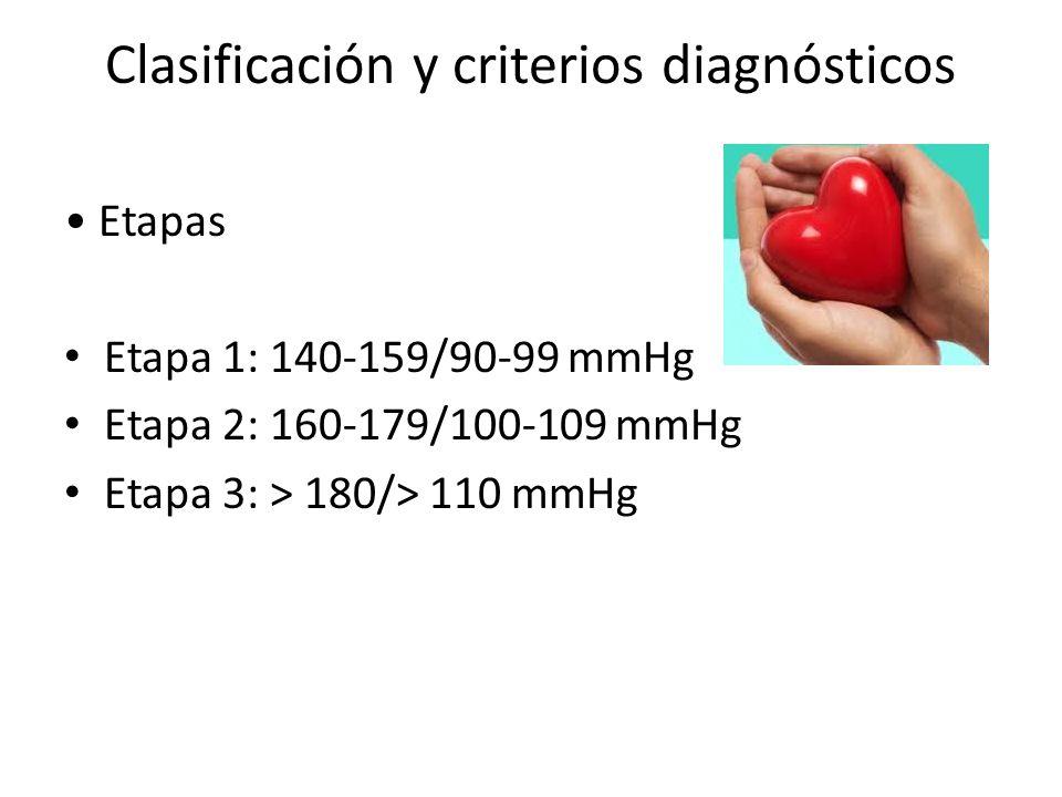 Clasificación y criterios diagnósticos