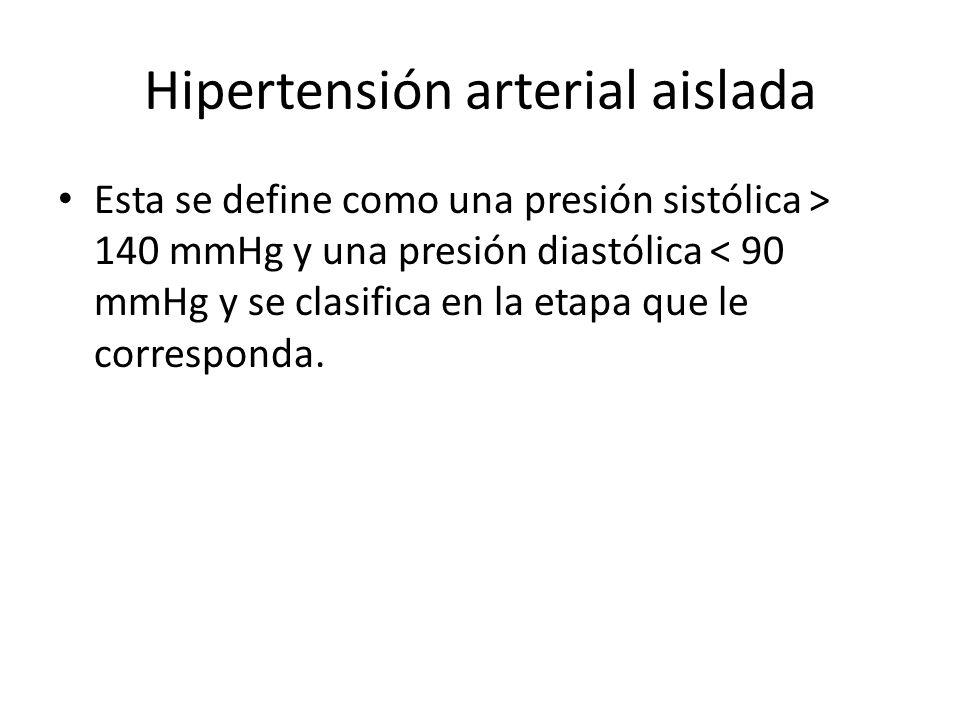 Hipertensión arterial aislada
