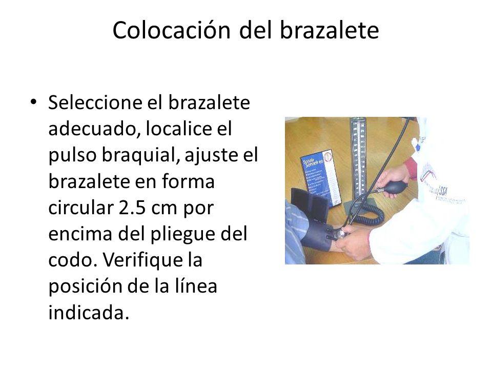 Colocación del brazalete