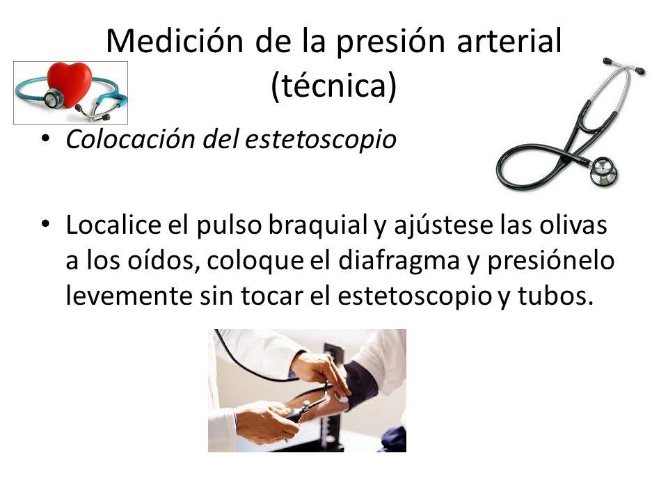 Medición de la presión arterial (técnica)